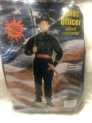 Union Officer Adult Costume Civil War Soldier General Army Mens Uniform Blue Red
