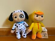 Brand New Cocomelon Jj Puppy And Duckie 8 Plush Soft Toy Set Ship Today