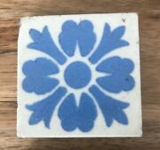 Antique Early Victorian Tiles Burslem 1850 Ultra Rare Blue And White Tandr Boote X8