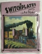 Light Switch Art Plates Early Steam Engine Train Double Toggle Switchplates 1997
