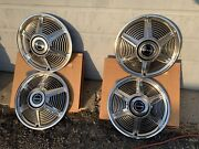 1964 1965 Ford Mustang Nos Oem In Ford Boxes Set 4 Hubcaps New 14andrdquo Rare Find