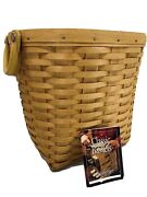 Rare New Longaberger 2000 Small Oval Waste Basket With Protector - New
