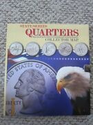 State Quarters Collectors Maps With All 56 Untouched/uncirculated Coins