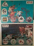Extremely Scarce 2 1972 1st Year Wha Hockey Puzzles Eastern And Western Division