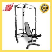 Marcy Home Gym Fitness Cage System Machine Adjustable Weight Bench