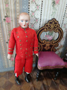 Antique Doll With Closed Mouth And Original Clothes Rare Bell Boy House Servant