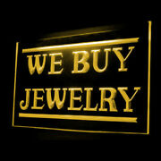 190069 We Buy Jewelry Shop Antique Display Led Light Neon Sign
