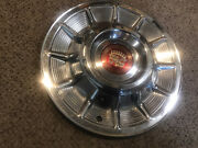 1957 Cadillac 15 Hubcap Wheel Cover Oem, With Center Emblem 57