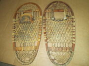 Ww2 Us Military C.a.lund Hastings Minn. 1944/ 43 13x28 Wood And Rawhide Snow Shoes
