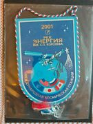 Space Flown On Iss Expedition 2 Pennant Signed By Crew Commander