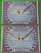 2 X Old Antique Goodall Bezique Registers Playing Cards Game Markers Scorers 4