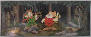 Disney Wdi 2013 Seven Dwarfs Nfcf Doc And Dopey In The Woods 2 Pins Le200