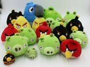 Huge Lot Of 18 Angry Birds Plush Toys 2-10 Rio Piggies Red Yellow Black Bombs