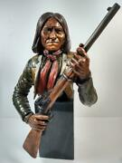 C.a. Pardell Rebellious Geronimo 1992 Legends Mixed Media Sculpture 399/950