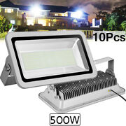 10x 500w Led Flood Light Cool White Camping Outdoor Lighting Security Wall Lamp