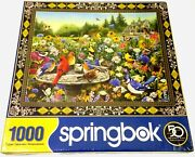 Springbok Birds And Butterflies 1000 Pc Jigsaw Puzzle - Sealed Box
