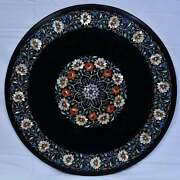 30and039and039 Marble Inlay Table Top Pietra Dura Home Garden Coffee Decor Antique B48