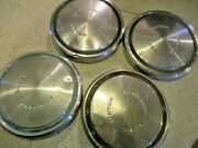 Ford Motor Company 10.5 X 1 And 3/8 Dog Dish Hubcaps / Ratrod