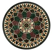 30and039and039 Marble Inlay Table Top Pietra Dura Home Garden Coffee Decor Antique B62