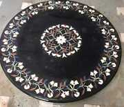 30and039and039 Marble Inlay Table Top Pietra Dura Home Garden Coffee Decor Antique B63