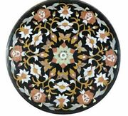 30and039and039 Marble Inlay Table Top Pietra Dura Home Garden Coffee Decor Antique B67