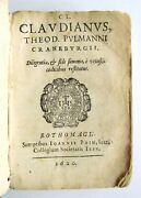 1620 17th Century Poetry By Claudian Vellum Bound