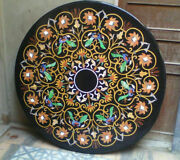30and039and039 Marble Inlay Table Top Pietra Dura Home Garden Antique Coffee Decor B70