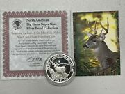 Coueand039s Whitetail Deer North American Huntington Beach 1 Oz .999 Silver Round