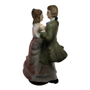 Tundra Imports Inc Vintage Dancing Couple Musical Figuring Spinning Music Box