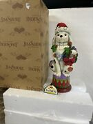 Jim Shore Rare Puppy Dog Nutcracker Deck The Halls With Bow Wows And Holly Mib