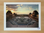 Jr Au Louvre 29 Mars 18h08 / Signed And Numbered Lithograph Print - Edition /250