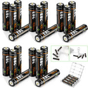 Ebl Lot 1.5v Usb Rechargeable Aaa Lithium Battery Li-ion Batteries + Cable Case