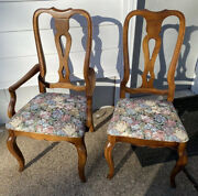 Beautiful Vintage 6 Ethan Allen Country French Dining Side And Arm Chairs 26-6202