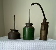 3 Vintage Small Oil Cans