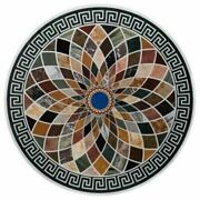 30and039and039 Marble Inlay Table Top Pietra Dura Home Garden Antique Coffee Decor B91