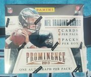 2013 Nfl Panini Prominence Football Factory Sealed Hobby Box