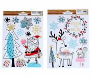 The Happy Holiday Christmas Window Cling Decorations - Santa Reindeers