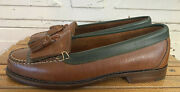 Cole Haan Womens Shoes Loafers Brown Leather Slip-on Flats Tassle Size 7 1/2