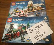 Lego Winter Holiday Train Set 10254 And Winter Village Station Set 10259 Brand New