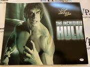 Psa/dna Authentic Lou Ferrigno Signed The Incredible Hulk 16x20 Photo