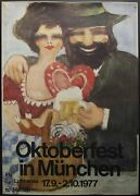 1976 Fly Lufthansa To Oktoberfest In München Poster Germany Fritz Wagner Vintage