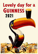 2022 Wall Calendar 12 Pgs Guiness Beer Vintage Art Deco Ads Posters M496