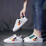 Heels Womens White Luxury Shoes Lace Flat Trainers Mickey Mouse Up Running