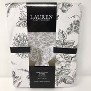 Floral Tablecloth Cotton White And Black 70 Round Black Flowers