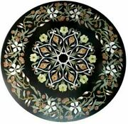 30and039and039 Marble Inlay Table Top Pietra Dura Home Garden Antique Coffee Decor B101
