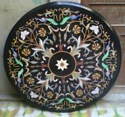 30and039and039 Marble Inlay Table Top Pietra Dura Home Garden Antique Coffee Decor B105