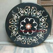 30and039and039 Marble Inlay Table Top Pietra Dura Home Garden Antique Coffee Decor B109