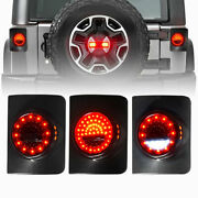 2pcs Round Style Led Tail Lights For Jeep Wrangler Jk Jku 2and4 Door 2007-2018