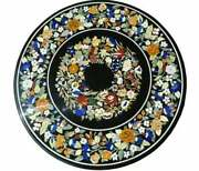 2and039x2and039 Table Marble Inlay Top Pietra Dura Home Antique Coffee Dining Decor B116