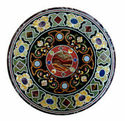 2and039x2and039 Table Marble Inlay Top Antique Coffee Dining Pietra Dura Home Decor B124